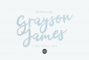 GRAYSON JAMES Bold Script .OTF Font example image 1