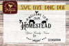 Welcome to Our Homestead Custom SVG Cut file example image 2