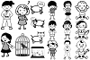 Stick People of Many Kinds AI EPS PNG example image 2