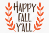 Happy Fall Y'all SVG, Cut File, Fall Shirt Design example image 2