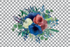 Colorful navy and burgundy floral watercolor wedding bouquet example image 18