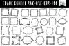 50 Hand Drawn Doodle Frames Bundle example image 3
