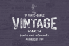Vintage Pack-17 fonts and elements example image 4