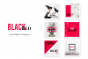 Social Media pack - BlackRed example image 1