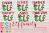 Christmas SVG Elf Family Mini Bundle  SVG, DXF, EPS, PNG example image 1