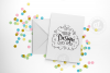 Pastel confetti greeting card mockup with smart objects PSD (portrait) 0009-21 example image 1