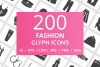 200 Fashion Glyph Icons example image 1