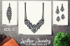Leather Jewelry CUT Template- Earrings - Braceles - VOL 2 example image 1