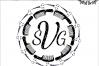 Hairdresser Monogram Frame  SVG - png - eps - dxf - ai - fcm - Cosmotologist SVG - Silhouette - Cricut - Scan N Cut - Stylist SVG example image 1