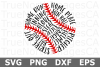 Baseball Words - A Sports SVG Cut File example image 3