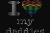 Rhinestone LGBT Parents Pride Heart SVG Template Set example image 2