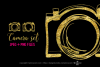 Gold camera clipart set example image 1