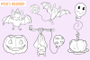 Halloween Party Bats Digital Stamps example image 2