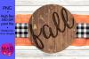 Fall - Round Door Hanger Sign example image 1