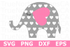 Heart Elephant- An Animal SVG Cut File example image 1