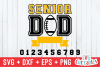 Senior Dad | Football Cut File example image 2