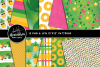 Party Like A Pineapple Clipart Graphics & Digital Paper Patterns Bundle example image 2