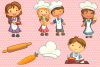 Cute Kids Cooking Illustrations example image 3
