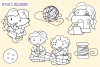 Cute Sewing Digital Stamps example image 2