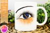Orange/Navy Awareness Ribbon Eye - Printable Design example image 1
