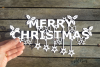 Merry Christmas paper cut SVG / DXF / EPS files example image 7