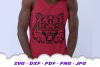 Tiger Mascot Sports Team SVG DXF Cut Files example image 1
