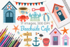 Beachside Cafe Clipart, Instant Download Vector Art example image 1