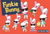 Funkie Bunny - SVG, EPS, DXF, PNG, example image 1