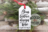 Ornament, Gift Tag, White, MOCK-UP example image 1