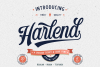 Harlend 6 fonts with extras intro example image 1