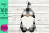 Santa Gnome - White and Black Buffalo Plaid example image 1