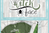 Resting Witch Face with Spider Web SVG example image 4