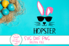 Hopster SVG, Easter Kids Svg, Cool Bunny, Bunny Face SVG,DXF example image 2