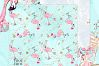 Pink Flamingo Christmas Presents Glitter Paper Pack example image 8