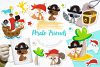Pirate friends graphics and illustrations example image 1