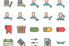 100 App & Web Interface Filled Line Icons example image 2
