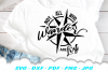 Not All Who Wander Compass SVG DXF Cut Files example image 1