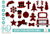 Buffalo Plaid Christmas Bundle SVG, DXF, AI, EPS, PNG, JPEG example image 1