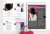 Hot Pink Fashion Canva template Ebook example image 9