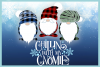 Chillin With My Gnomies Quote with Gnomes SVG example image 3