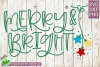 Merry & Bright Christmas SVG File example image 2