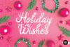 AFTERGLOW a Christmas Snow Holiday Font example image 3