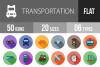 50 Transportation Flat Long Shadow Icons example image 1
