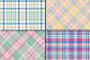 Easter Plaid Digital Paper / Spring Pastel Plaid Pattern example image 3