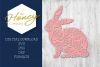 Floral Easter Bunny SVG DXF PNG Cutting File Vector Clipart example image 1