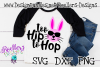 Easter SVG, Too Hip to Hop Easter, Cricut Svg, Rabbit, example image 1