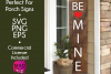 Be Mine - Valentines Day SVG for Long Vertical Welcome Sign example image 1