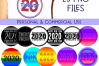2020 New Year Designs for PRINTING, High Resolution example image 14