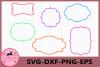Frame Svg, Monogram Frames SVG, Monogram svg, Monogram Frame example image 1