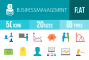 50 Business Management Flat Multicolor Icons example image 1
